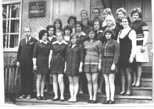 Группа учениц Устьваеньгского ПТУ