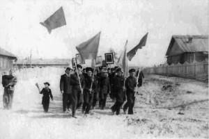 На демонстрациию п. Усть-Ваеньга